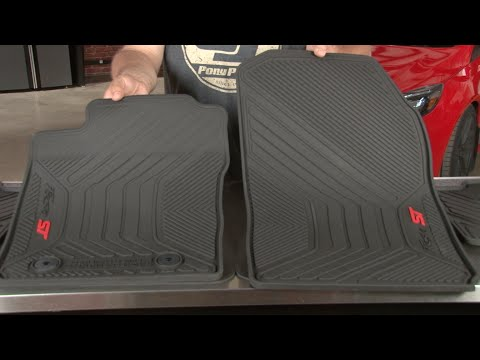 Fiesta St Ford All Weather Floor Mats With St Logo 2014