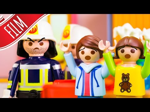 Playmobil Film | Felix und Annika allein bei der Feuerwehr mit 👨👩👧👦 Familie Sandmann
