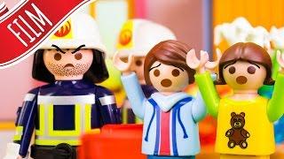 Playmobil Film   Felix und Annika allein bei der Feuerwehr mit 👨👩👧👦 Familie Sandmann