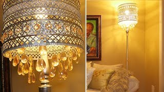 DIY - Bohemian Crystal Floor Lamp