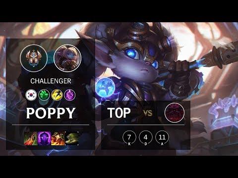Poppy Top vs Ornn - KR Challenger Patch 10.9