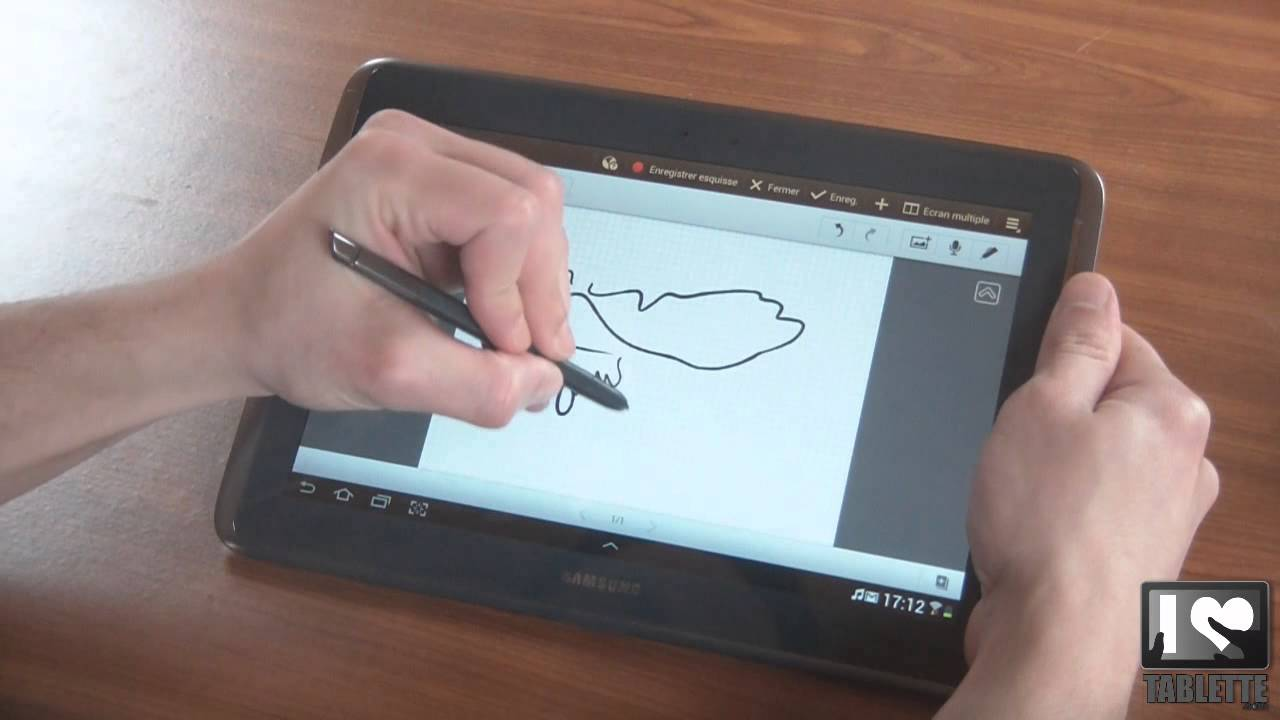 test tablette tactile android samsung galaxy note 10 1 utilisation stylet youtube