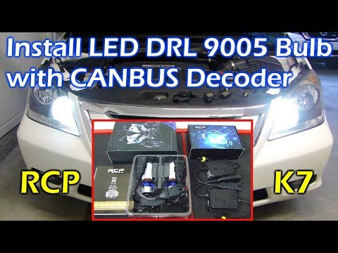 Install LED DRL Light with CANBUS Decoder in Honda - RCP K7
