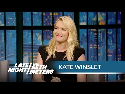 Kate Winslet Keeps Her Oscar in Her Bathroom - Late Night with Seth Meyers