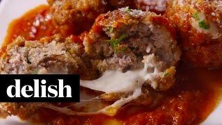 Cheese Stuffed Meatballs   Delish