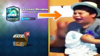 kid starts crying after getting the wrong legendary in clash royale