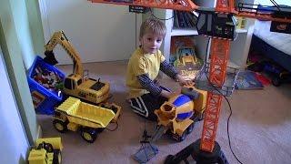 Construction site Toys: Crane! Excavator! Cement Mixer! Dump Truck! Lego! OH MY!