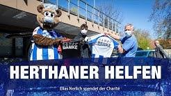 Herthaner helfen: Elias Nerlich spendet der Charité | Hertha BSC