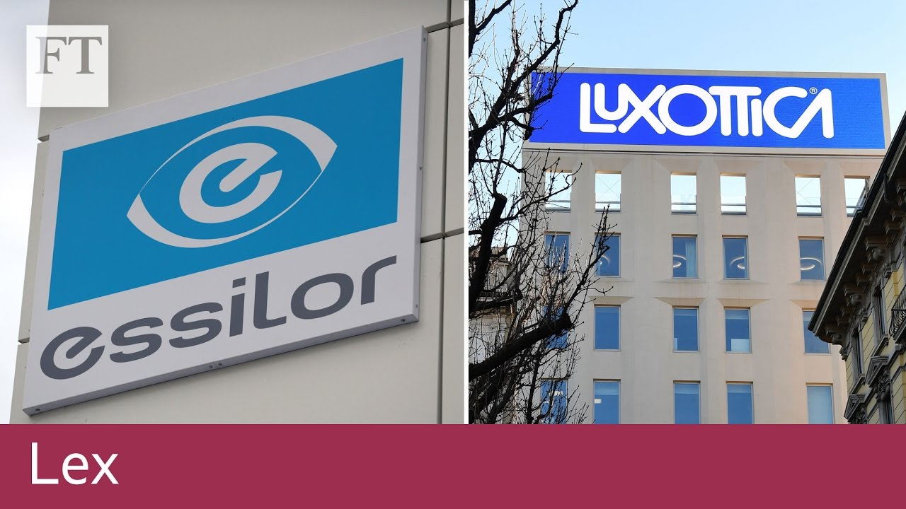 00e5e3f5ab5d22 Luxottica and Essilor agree €50bn merger   Lex - YouTube