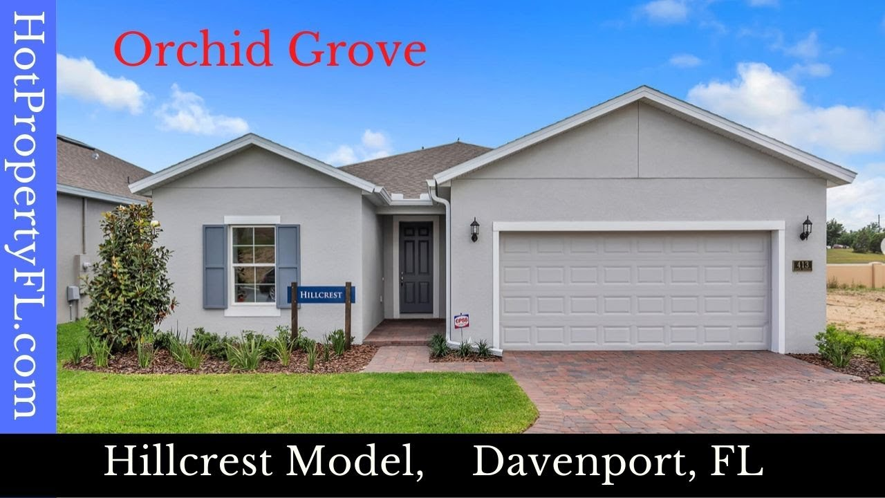 New Model Home Tour | Davenport, FL | Orchid Grove | 4 BR, 2BA, 1,758 sq ft | $232,990* Base Price