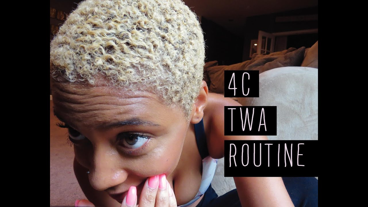 Natural Hair Quick Way To Style A Twa 4c Youtube