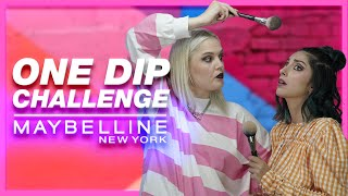 ONE DIP MAKEUP CHALLENGE ft. i Mikri Ollandeza & Fosbloque | Maybelline NY Greece
