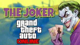 GTA 5 ONLINE: How to be the joker full tutorial with joker's car - joker's outfit