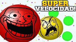 AGAR.IO CON SUPER VELOCIDAD!!! MASA DE 24,000 MODO DE JUEGO SPEEDY SUPER ADICTIVO AGARIO
