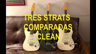 Tres Strats, Clean: Fender, Frugoni, Jay Turser Video