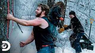Construcciones sustentables de los Brown   Alaska: Hombres Primitivos   Discovery Latinoamérica