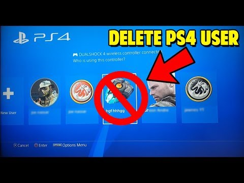 HOW TO DELETE A USER ON YOUR PS4