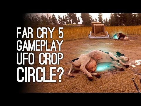 Far Cry 5 Gameplay: UFO CROP CIRCLES! FIRE PIGS! (Let's Play Far Cry 5)