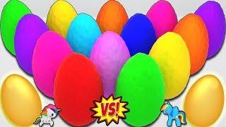 Aprende los Colores con 20 Huevos Sorpresa Coloridos de Plastilina - Video Educativo para Niños!