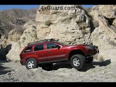 Lifted Jeep Cherokee >> Jeep Grand Cherokee WK Rock Sliders - YouTube