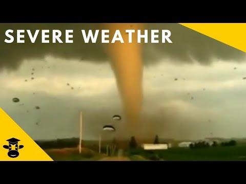 Compilation Of Severe Weather ( Tornado, Hurricane, Dust Storm, Thunderstorm )