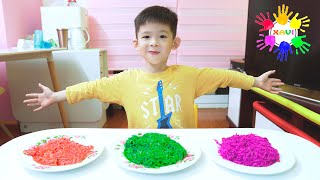 Xavi ABCKids Pretend Play Wants to eat Colorful Noodles