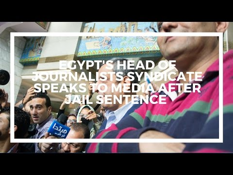 Egypt's head of journalists syndicate speaks after court sentence