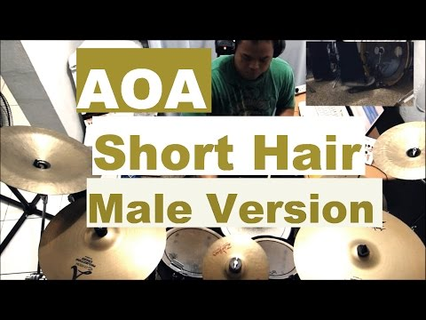 AOA - Short Hair - Drum Cover (Reupload) - Male Version - 에이오에이 - 단발머리