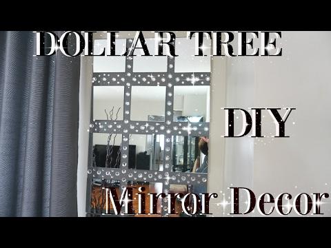 DIY DOLLAR TREE BLING MIRROR WALL ART DECOR | PETALISBLESS🌹