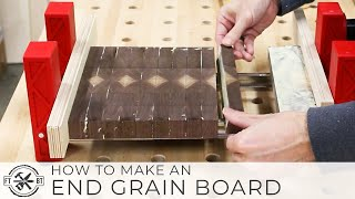 How to Make an End Grain Cutting Board w/  Design | Woodworking