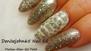 SNAKE SKIN Gel Design--Madam Glam Review--30% OFF USE---denise30