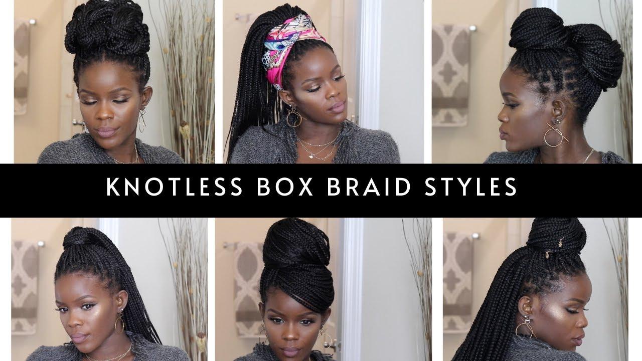 12 Easy Knotless Box Braid Styles Youtube