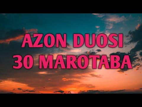 AZON DUOSI YODLASH UCHUN OSON