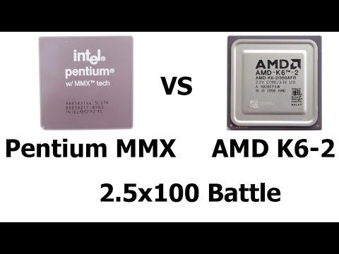 Pentium MMX Vs AMD K6-2