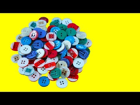 Diy Showpiece Out Of Buttons ! Diy Arts and crafts Ideas ! Reuse of Waste !