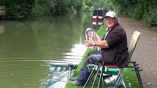 Easy Fishing. Short Pole on the Canal with bread and worms