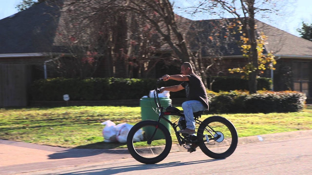 Fat Tire Micargi Slugo Motorized 80cc Bicycle First Test