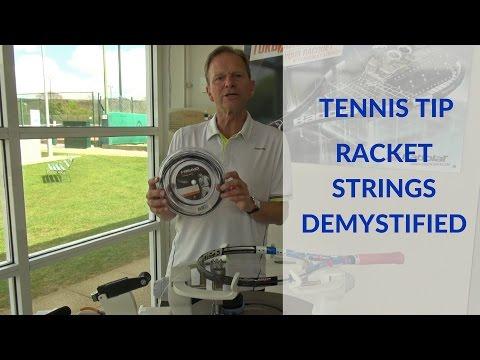 Tennis racket strings demystified