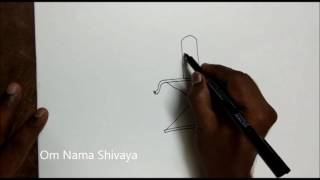 How to draw Lord Shiva art