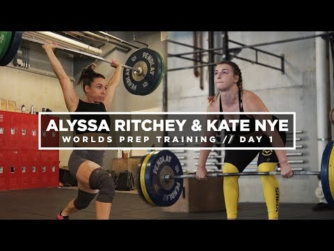 Alyssa Ritchey Snatch PR | IWF Worlds Training W/ Alyssa Ritchey And Kate Nye