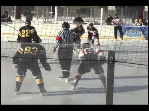 UWO at Lewis U Outdoor hockey#1 of 2 01102015