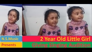 Unse mili nazar ke mere cover song by 2 year old wonder girl