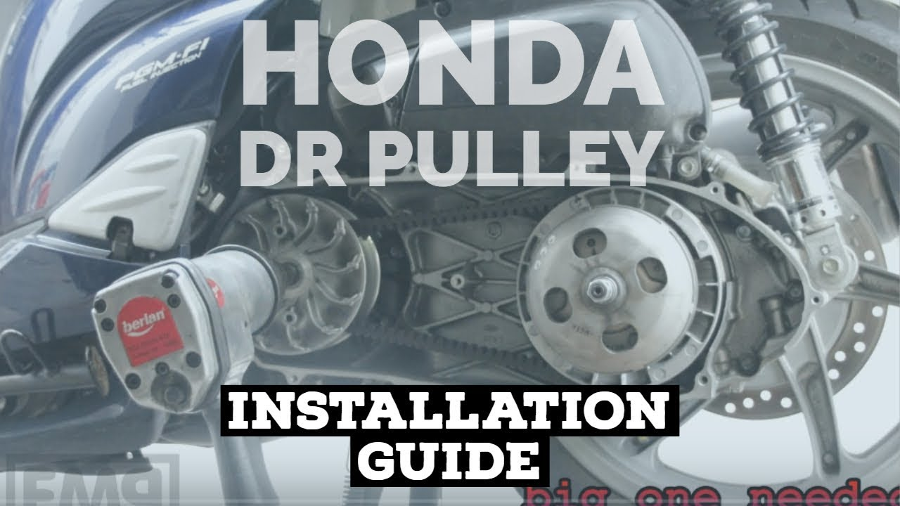 how2 install dr pulley roller honda sh 300i fmpguides. Black Bedroom Furniture Sets. Home Design Ideas