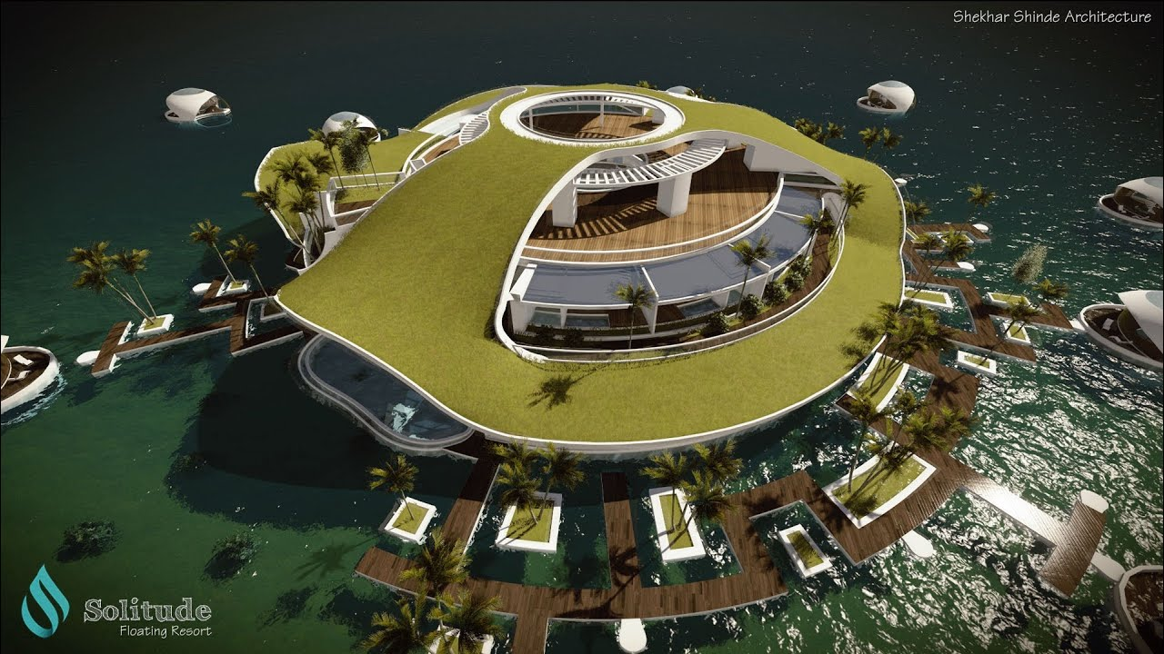 Desain Resort Floating Resort Design By Shekhar Shinde Youtube