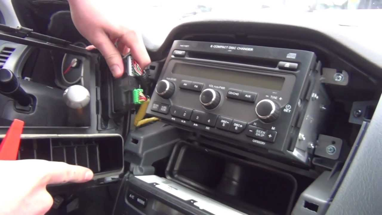 hight resolution of gta car kits honda pilot 2003 2008 install of iphone ipod and aux adapter for factory stereo youtube