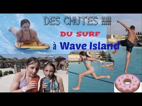 CHUTES, SURF, TOBBOGAN..... à Wave Island 🐬🌊🏖