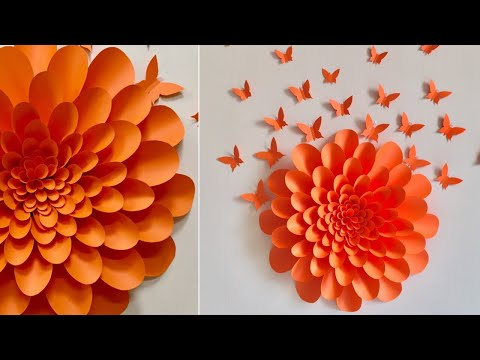 Giant Paper Flowers Wall Decor Ideas | Room Decor Ideas