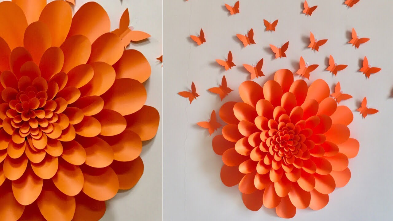 giant paper flowers wall decor ideas