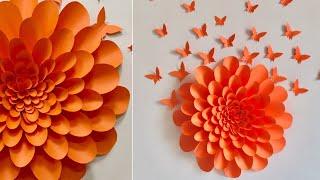 Giant Paper Flowers Wall Decor Ideas | Room Decor Ideas - YouTube