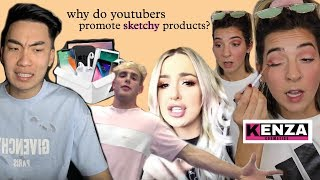 YouTubers Promoting Sketchy Products (Kenza Cosmetics, Mystery Box Gambling)
